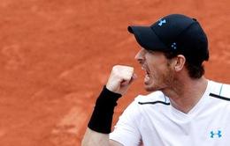 Pháp mở rộng 2017: Murray vượt khó đánh bại Del Potro trong 3 set