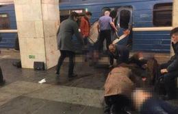 Hiện trường tang thương sau vụ tấn công khủng bố ở tàu điện ngầm Nga