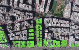 Nghệ thuật trên nóc nhà đẩy lùi bạo lực tại Lebanon