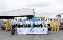 Chuyến bay chở hàng cứu trợ mưa lũ từ Nhật Bản đã tới Việt Nam