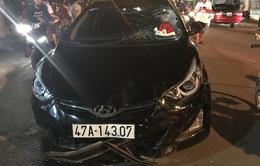 Đăk Lăk: Ô tô tông liên hoàn xe máy, 8 người bị thương