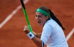 Pháp mở rộng 2017: Jelena Ostapenko bất ngờ vào bán kết; tứ kết đơn nam bị hoãn 1 ngày do thời tiết