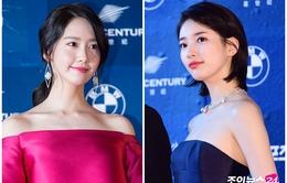 Lễ trao giải Baeksang 2017: Yoona (SNSD) rực rỡ sắc đỏ, Suzy e ấp trong bộ váy navy