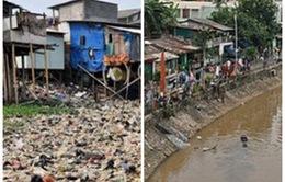 """Những dòng sông ở Jakarta """"lột xác"""" sau chiến dịch làm sạch"""