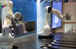 Robot pha chế rượu tại nhà hàng Mỹ