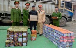Nghệ An bắt giữ gần 500 kg pháo nổ các loại