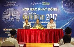 Tối nay (16/11), trao Giải thưởng Nhân tài Đất Việt 2017