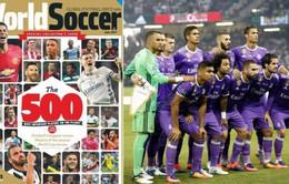 Real Madrid và Tây Ban Nha áp đảo trong Top 500 cầu thủ ảnh hưởng nhất thế giới 2017