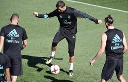 Hăng hái tập luyện, Ronaldo chắc suất ở El Clasico
