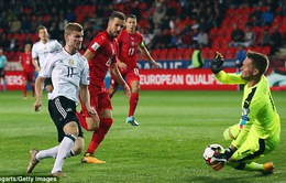Vượt qua CH Séc, Đức đặt một chân tới World Cup 2018