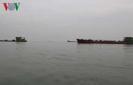 Bắt giữ 4 sà lan hút cát tại khu vực biển Cần Giờ