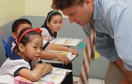 100% học sinh lớp 3 được học chương trình ngoại ngữ 10 năm