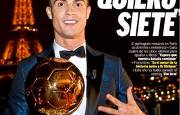 Báo chí thế giới ngả mũ trước thành tích của C.Ronaldo