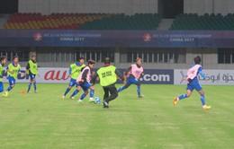 ẢNH: ĐT U19 nữ Việt Nam làm quen sân thi đấu Jiangning Sport Center tại VCK U19 châu Á 2017