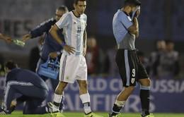 Messi nhạt nhòa, Argentina và Uruguay bất phân thắng bại