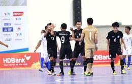 Giải futsal vô địch Đông Nam Á 2017, bảng B: Thái Lan nhất bảng, Malaysia giành vị trí thứ 2