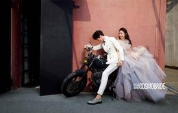 """Ảnh cưới ngọt ngào của Triệu Lệ Dĩnh và """"người tình màn ảnh"""" trên tạp chí"""