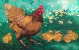 Muôn hình vạn trạng về loài gà trong tranh