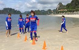 Đội tuyển nữ Quốc gia miệt mài rèn thể lực tại Cẩm Phả, Quảng Ninh