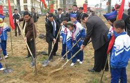 """Phú Yên: Học sinh với Tết trồng cây """"Đời đời nhớ ơn Bác Hồ"""""""
