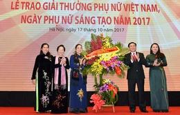 Trao Giải thưởng Phụ nữ Việt Nam và phụ nữ sáng tạo 2017