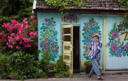 Chiêm ngưỡng bức tường nở hoa suốt 4 mùa ở Ba Lan