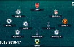 Đội hình tiêu biểu Ngoại hạng Anh 2016/17: Man Utd có 1 cái tên duy nhất