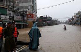 Nước lũ tại Quảng Ngãi dâng cao, có nơi đạt mức đỉnh lũ lịch sử