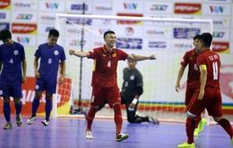 ĐT futsal Việt Nam giành chiến thắng với số bàn thắng kỷ lục trước ĐT Philippines