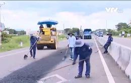 Quốc lộ 1 qua tỉnh Bình Thuận xuống cấp nghiêm trọng