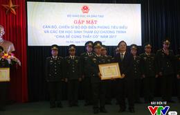 Tuyên dương 60 chiến sĩ bộ đội biên phòng có nhiều đóng góp cho sự nghiệp giáo dục