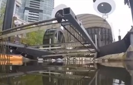 Cỗ máy lọc rác chạy bằng năng lượng mặt trời giúp làm sạch nguồn nước