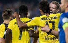 Aubameyang tỏa sáng, Dortmund đánh bại Leipzig