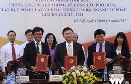 Đài Truyền hình Việt Nam và Đài Tiếng nói Việt Nam phối hợp thông tin, truyền thông với Bộ Tư pháp