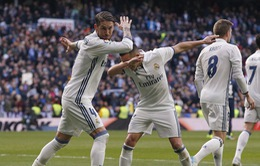 Vòng 19 giải VĐQG Tây Ban Nha: Ramos tỏa sáng, Real giành trọn 3 điểm trước Malaga