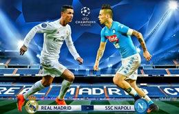 Real Madrid - Napoli: Đọ tài tấn công (2h45 ngày 16/2)