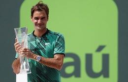 Những cột mốc của Roger Federer sau chiến thắng tại Miami mở rộng 2017