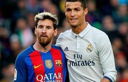 Ronaldo kém Messi 14 bậc trong cuộc đua Chiếc giày vàng 2016/17