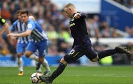 Ghi bàn cứu Everton, Rooney áp sát kỷ lục Ngoại hạng