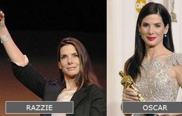 Những diễn viên nhận cả giải Mâm xôi vàng và Oscar