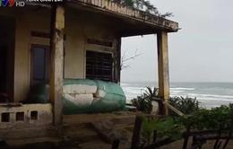 Quảng Ngãi: Lo lắng làng chài bị sóng cuốn trôi