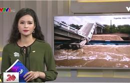 Cà Mau: Sà lan chở cát đâm sập cầu, 3 người bị thương