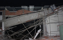 Sập công trình siêu thị ở Bà Rịa - Vũng Tàu, 4 công nhân bị thương