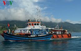 Cảnh sát biển lai dắt tàu cá bị nạn vào bờ