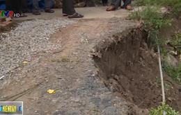 Tình trạng sạt lở đe dọa các huyện phía Tây Tiền Giang