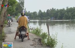Nguy cơ mất đường nông thôn vì sạt lở nghiêm trọng ở Bạc Liêu