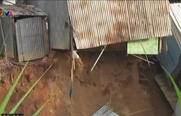 Tiếp tục sạt lở tại An Giang, 6 nhà sụp xuống kênh