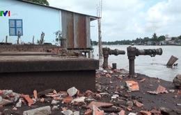 Cần Thơ: 9 vụ sạt lở bờ sông từ đầu năm, gây thiệt hại lớn