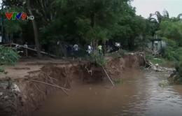 An Giang di dời khẩn cấp nhiều hộ dân do sạt lở đất ven sông Hậu