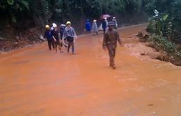 Sạt lở hồ chứa 1.000 m3 bùn thải tại Yên Bái